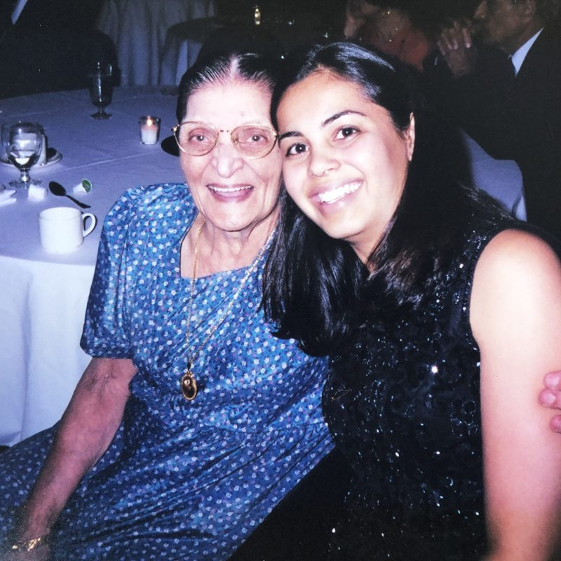 the writer and her grandmother